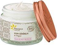 """Fleurance Nature Generous Cream - Подхранващ крем за лице с био арганово масло от серията """"Argan Oil"""" -"""