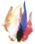 Цветни декоративни пера - Комплект от 16 броя с дължина 10 cm