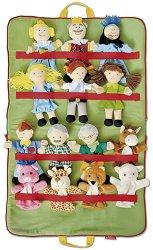 Приказен свят 2 - Комплект 14 кукли за куклен театър в чанта -