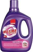 Течен перилен препарат - Sano Maxima Sensitive - Опаковка от 2 l или 4 l - залъгалка