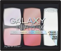 Catrice Galaxy In A Box Holographic Glow Palette - Холограмна палитра с хайлайтъри за лице - спирала