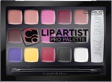 Catrice Lip Artist Pro Palette - Палитра с 15 цвята червила и двустранна четка -