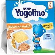 Nestle Yogolino - Млечен десерт бисквита - Опаковка от 4 х 100 g за бебета над 6 месеца - пюре