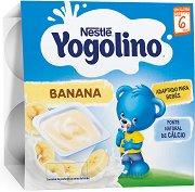Nestle Yogolino - Млечен десерт банан - Опаковка от 4 х 100 g за бебета над 6 месеца - продукт