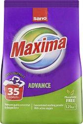 Прах за пране - Sano Maxima Advance - Разфасовка от 1.250 kg -