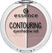 Essence Contouring Eyeshadow Set - Палитра сенки за контуриране на очи - серум