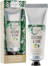"""Scottish Fine Soaps Coconut & Lime Hand & Nail Cream - Крем за ръце и нокти с кокосово масло от серията """"Coconut & Lime"""" -"""