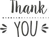Гумен печат - Thank you