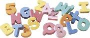 Печати от EVA пяна - Цифри и латински букви - Комплект от 36 броя