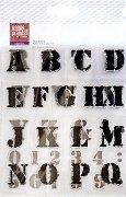 Силиконови печати - Цифри и латински букви - Комплект от 41 части