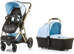 Бебешка количка 2 в 1 - Sensi - С 4 колела -