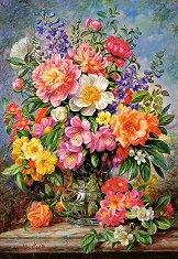 Юнски цветя във ваза - пъзел