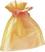 Торбичка за подарък от органза - оранжева