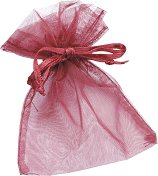 Торбичка за подарък от органза - червена