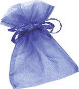 Торбичка за подарък от органза - синя