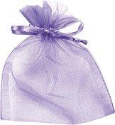 Торбичка за подарък от органза - лилава