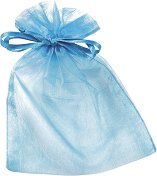 Торбичка за подарък от органза - тюркоаз