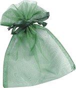 Торбичка за подарък от органза - зелена