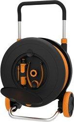 Градински маркуч с количка - Комплект с конектори и струйник