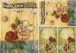 "Декупажна хартия - Парфюм Камия 60 - Серия ""Digital Collection Mulberry"""