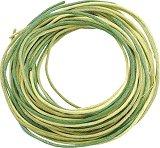 Памучен шнур - зелен - Комплект от 3 броя