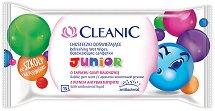 Cleanic Junior Wet Wipes - Детски антибактериални мокри кърпички за ръце в опаковка от 15 броя -
