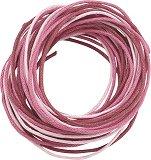 Памучен шнур - розов - Комплект от 3 броя