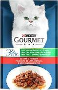 Gourmet Perle Mini Fillets in Gravy with Beef and Carrots - Говеждо месо с моркови в сос грейви за котки в зряла възраст - пауч 85 g -