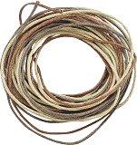 Памучен шнур - кафяв - Комплект от 3 броя