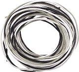 Памучен шнур - сив - Комплект от 3 броя