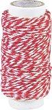 Памучен шнур туист - червен - Дължина 20 m