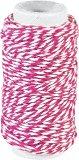 Памучен шнур туист - розов