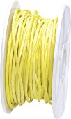 Хартиен шнур с тел - жълт - Дължина 10 m