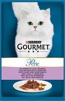 Gourmet Perle with Game and Vegetables - Дивечово месо със зеленчуци в сос за котки в зряла възраст - пауч 85 g -