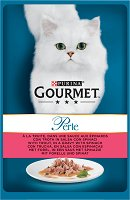 Gourmet Perle with Trout in a Gravy with Spinach - Пъстърва със спанак в сос грейви за котки в зряла възраст - пауч 85 g -