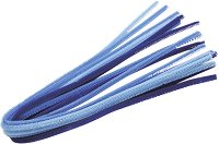 Плюшени шнурчета - сини - Комплект от 10 броя с дължина 50 cm