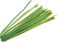 Плюшени шнурчета - зелени - Комплект от 10 броя с дължина 50 cm