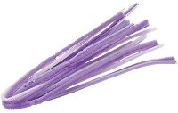 Плюшени шнурчета - лилави