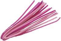 Плюшени шнурчета - розови