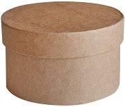Кръгла кутия от папиемаше - Предмет за декориране