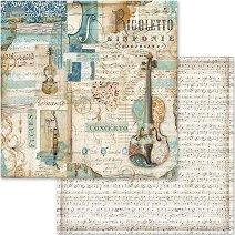 Хартия за скрапбукинг - Музика - Размери 30.5 х 30.5 cm