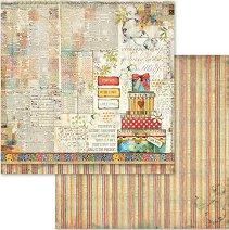 Хартия за скрапбукинг - Подаръци - Размери 30.5 х 30.5 cm