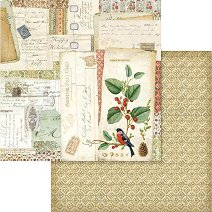 Хартия за скрапбукинг - Писма - Размери 30.5 х 30.5 cm