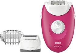 Braun Silk-epil 3 3-410 - Епилатор за тяло с бръснеща глава -