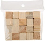 Дървени кубове - Комплект от 20 броя за декориране
