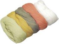 Вълна за филц - пастелни цветове - Комплект от 5 цвята