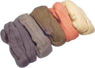 Вълна за филц - кафява - Комплект от 5 цвята