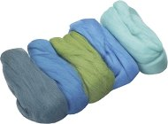 Вълна за филц - тюркоазена - Комплект от 5 цвята