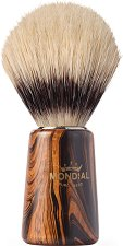 Четка за бръснене с естествен косъм от глиган и дървена дръжка -