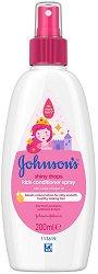 Johnson's Kids Conditioner Spray Shiny Drops - четка